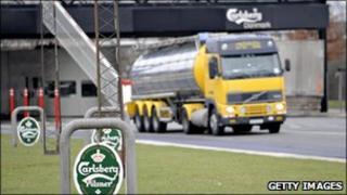 Carlsberg truck
