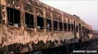 The train that caught fire at Godhra