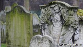 Gravestones in Bunhill Fields
