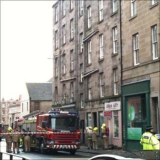blaze scene, Edinburgh