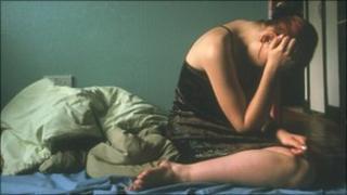 Woman in distress