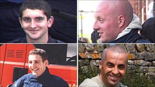 Clockwise from top left: Ashley Stephens, Darren Yates-Badley, Ian Reid, John Averis