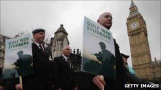 Gulf War veterans protest in Westminster