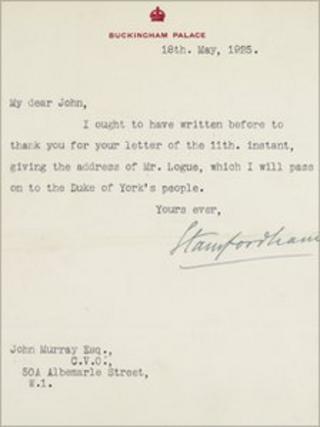 Letter to John Murray