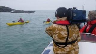 Filming Ben Fogle on Anglesey