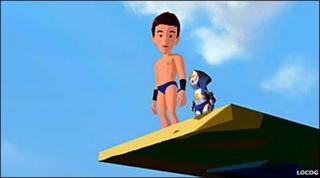 Animated version of Tom Daley. LOCOG