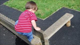 child at a playpark