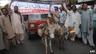 Oil price protest in Karachi
