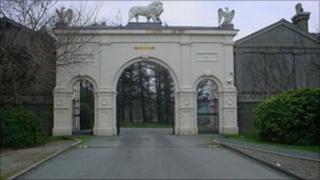 Glynllifon main entrance