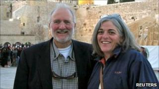 Mr Gross and his wife in Jerusalem