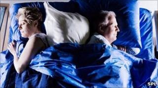 A sleeping couple