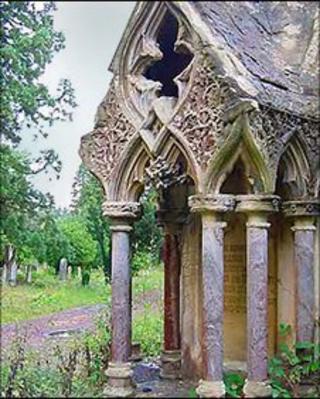 Tombstone in Brookwood Cemetery