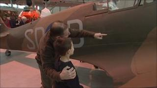 Visitors are shown the World's oldest Spitfire
