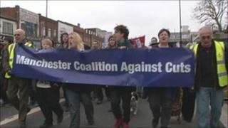 Manchester cuts march