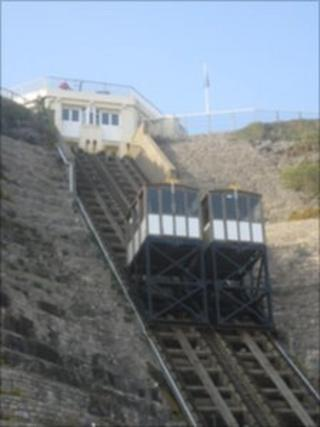The East Cliff lift