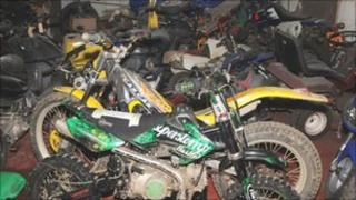 Seized off-road bikes