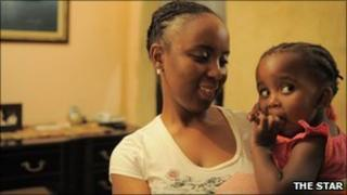 Thabile Khumalo and her daughter Sinokuhle
