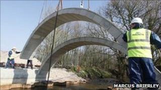 The Flax Lane bridge - pic by Marcus Brierley/plaincom.com