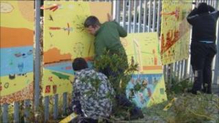 Highslopes community centre art project