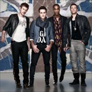 Lee Ryan, Antony Costa, Simon Webbe and Duncan James of Blue