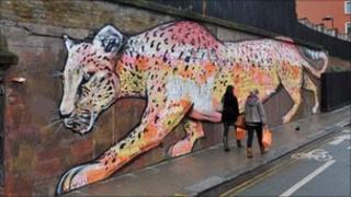 Painting on Regents Park Road