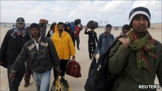 Bangladeshi workers in Libya