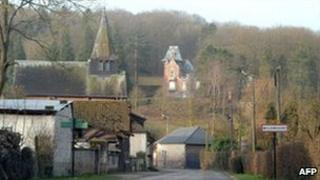 The entrance to the village of Willencourt after the arrests, 11 March