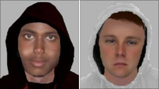 E-fit images of burglary suspects