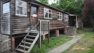 Wooden scout hut at Menai Bridge
