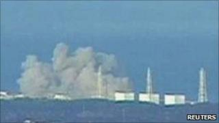 Smoke billowing from Fukushima nuclear plant