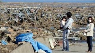 Tsunami damage in Minamisoma, Fukushima Prefecture, Japan - 12 March 2011