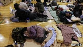 Evacuees who fled from the vicinity of Fukushima nuclear power plant