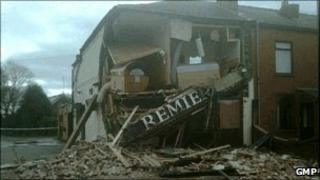 Shop damaged by lorry