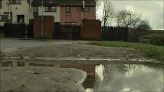 The man was shot in the Springhill Park area of Strabane