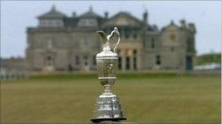 The Claret Jug trophy awarded to the winner of the Open Golf Championship.