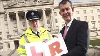 Environment Minister Edwin Poots and Assistant Chief Constable Duncan McCausland launch a consultation on new road safety measures