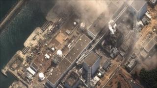 Fukushima nuclear power plant in the wake of the earthquake and tsunami