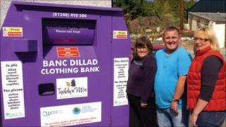 Tyddyn Mon clothing bank