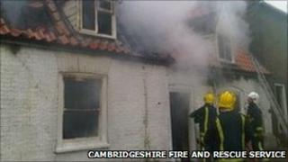Fire crews at house fire