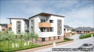 Artist's impression of the homes