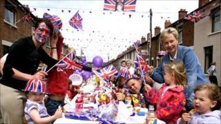 Street party to mark the Queen's Golden Jubilee