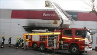 Fire at Bensons For Beds