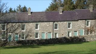 Quarrying cottages at Nant Gwrtheyrn, Gwynedd