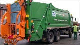 Garden waste collection lorry
