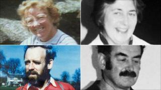 Clockwise from top right - Helen Thomas, Richard Thomas, Peter Dixon and Gwenda Dixon