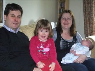 Andrew and Lucy Axon with two of their five children