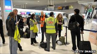 UK Officials at Tokyo airport