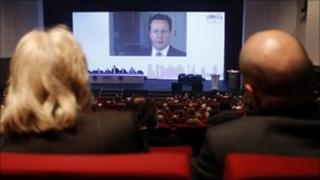 David Cameron video message to FSB conference