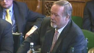 Sir Terry Matthews giving evidence to Welsh affairs committee