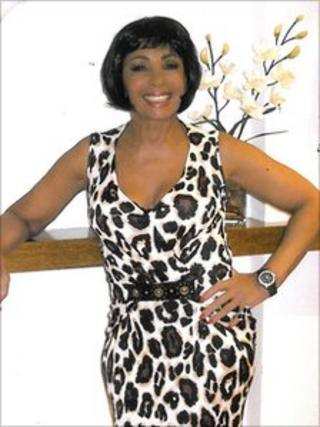 Dame Shirley Bassey in the dress going up for auction